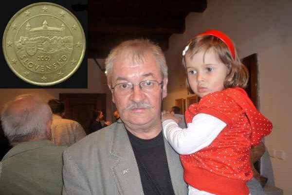 Pavel Károly. Pedagóg a medailér s vnučkou.