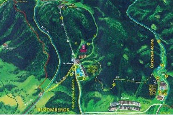 Mapa je pre záujemcov k dispozícii bezplatne na mestskom úrade a v Informačnom centre v Ružomberku.