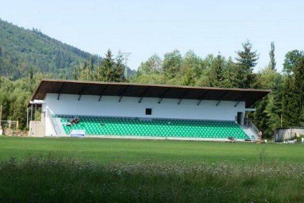 Vynovený štadión v Liptovskom Hrádku.