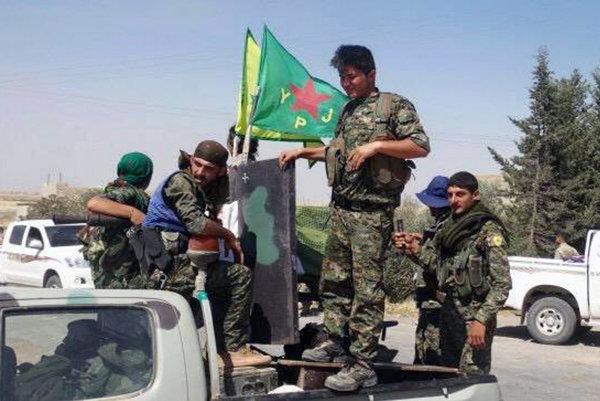 Kurdské vojenské jednotky.