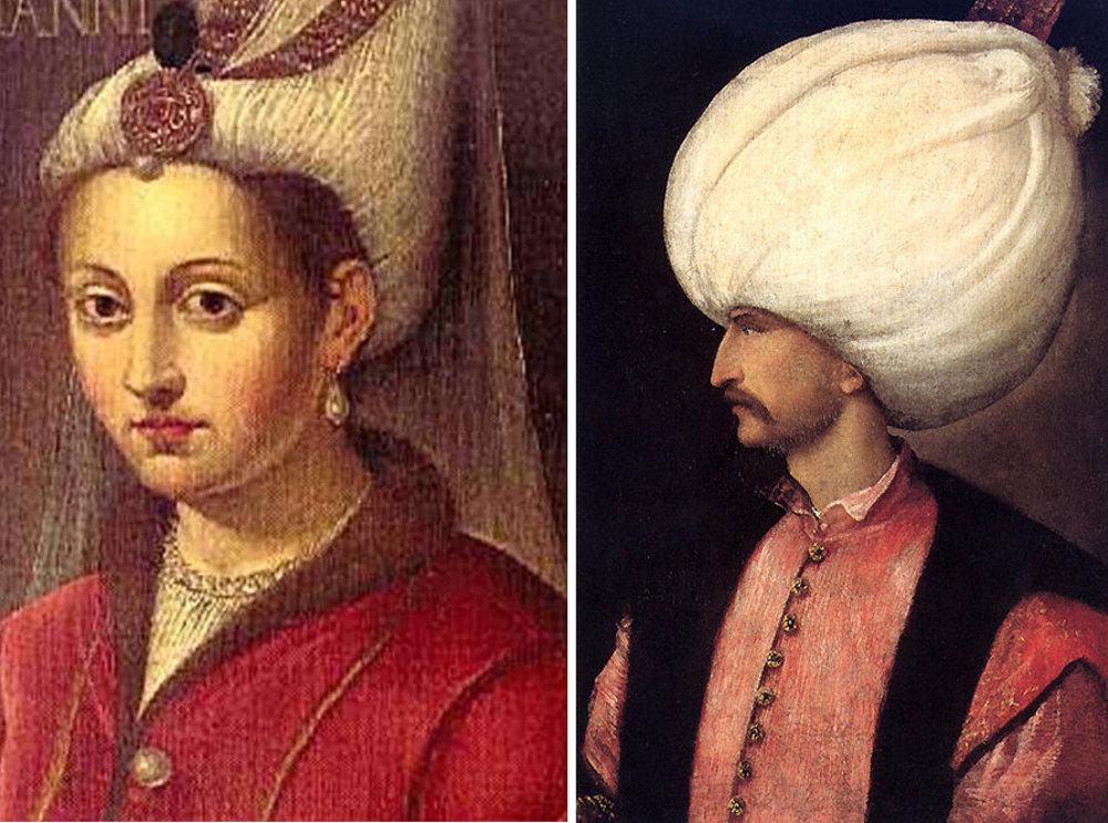 Süleymanova najmilovanejšia manželka Roxolana a Sultán si vymieňali ľúbostné listy.