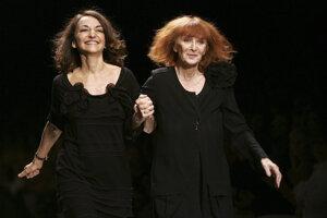 Sonia Rykiel (vpravo) s dcérou Nathalie