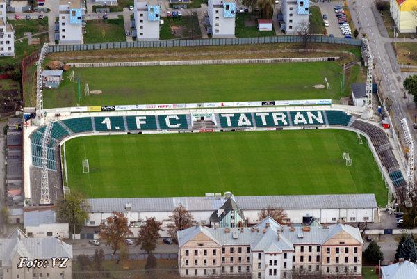 Futbalový štadión. Do začiatku výstavby ho bude užívať 1.FC Tatran.