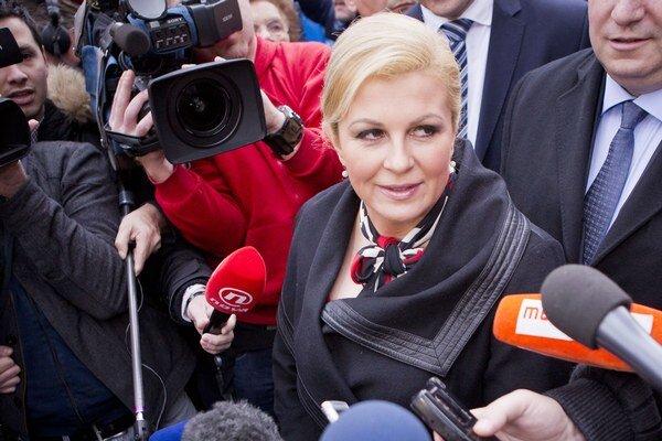 Chorvátska prezidentka Kolinda Grabarová-Kitarovičová.