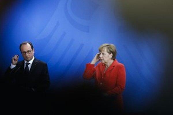 Francois Hollande a Angela Merkelová.