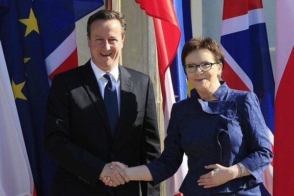 David Cameron a Ewa Kopaczova.
