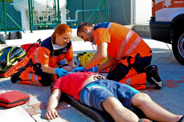 Záchranári v akcii