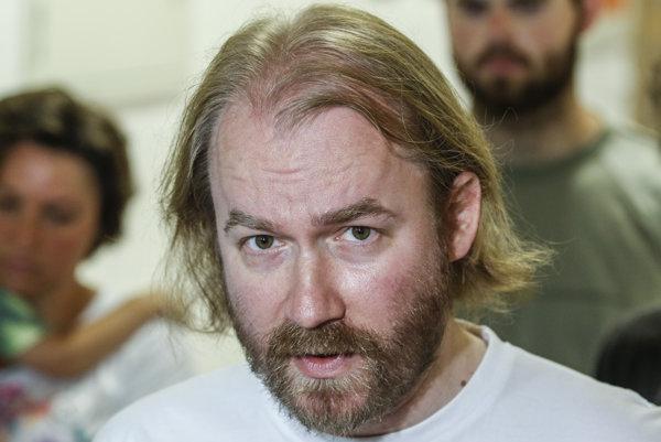 Zástupca Iniciatívy slovenských učiteľov Vladimír Crmoman.