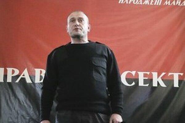 Líder Pravého sektoru Dmytro Jaroš.