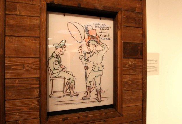 Vydarená karikatúra. Aj humor pomáhal prežiť.