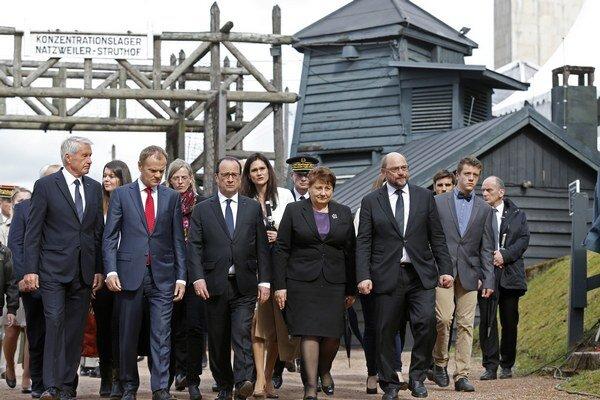 Koncentračný tábor navštívil s Hollandom aj predseda Európskeho parlamentu Martin Schulz.