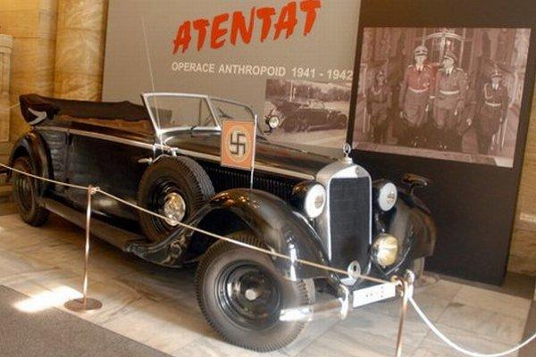 V takomto aute sedel pri atentáte Heydrich.