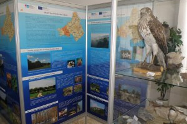 Výstava predstavuje prírodné krásy Trenčianskeho kraja.