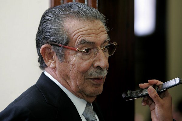 Bývalý diktátor Efrain Rios Montt.