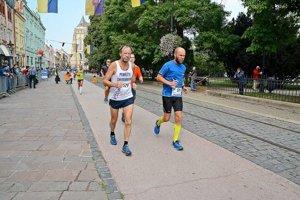 Peter Gombita. Na trati košického maratónu.