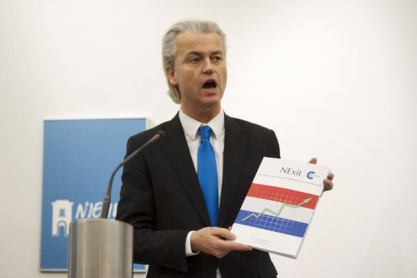 Predseda Strany slobody Geert Wilders.