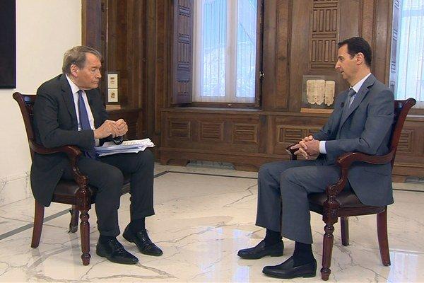 Sýrsky prezident Baššár al-Asad v rozhovore pre americkú televíznu stanicu CBS.