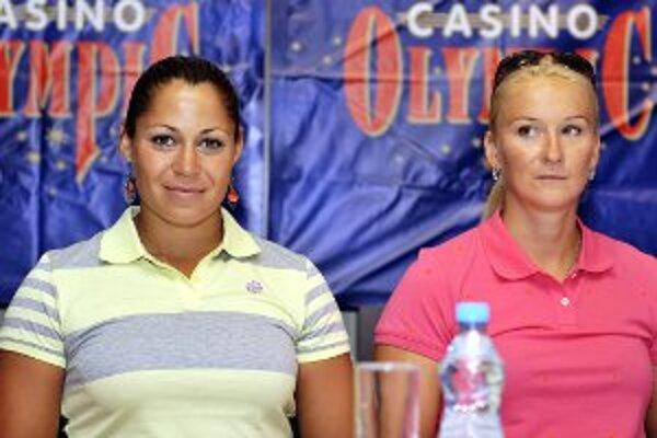 Ivana Kmeťová (vpravo) s Martinou Kohlovou, slovenský dvojkajak K2.