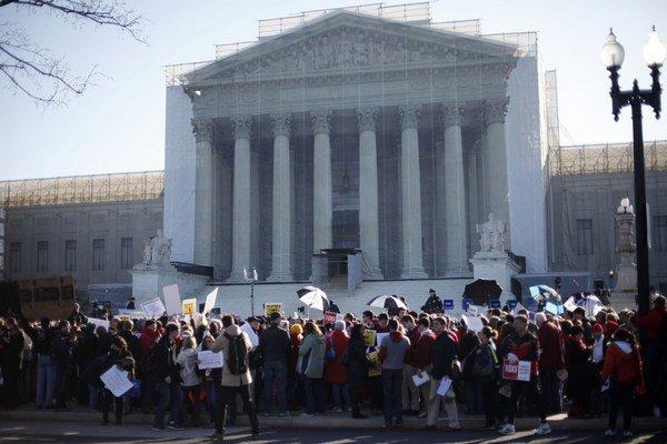 Budova Najvyššieho súdu v USA.