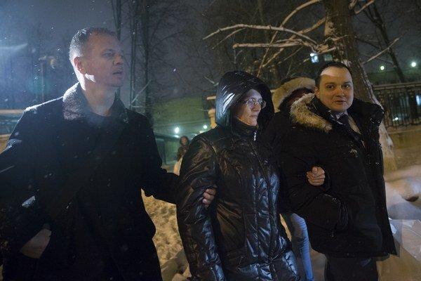 Na snímke Svetlana Davydovová, matka siedmich detí.