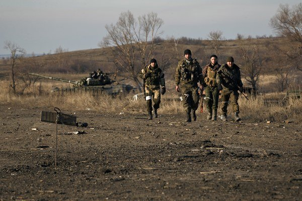 Proruskí separatisti pri Artemivsku.