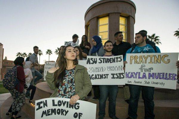 Spomienková akcia na obete Islamského štátu.