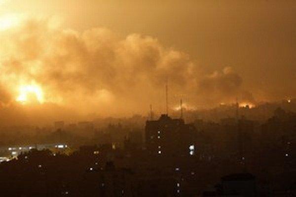 Pásmo Gazy po útokoch minulý rok.