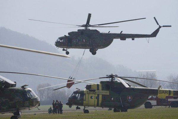Vrtuľníkové krídlo v Prešove.