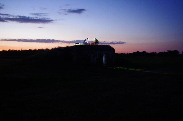 Jeden z pechotných bunkrov na Záhorí.