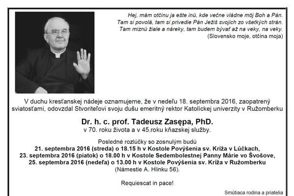 Parte Tadeusza Zasępu