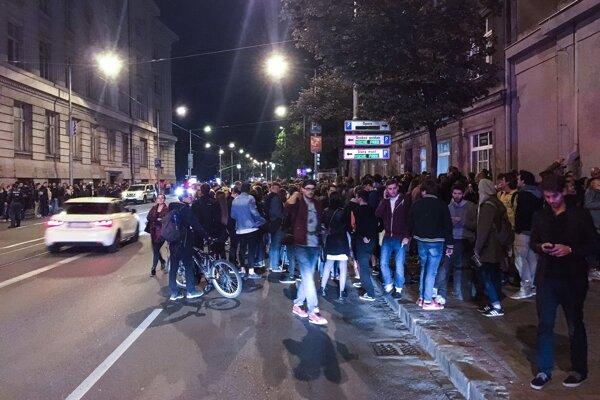 Protest v centre Bratislavy.