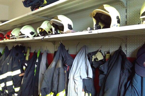 Šatňa ružomberských hasičov.