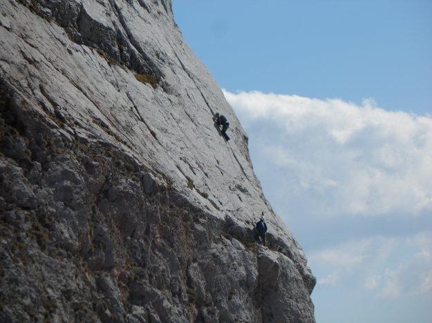 Horolezci v akcii.