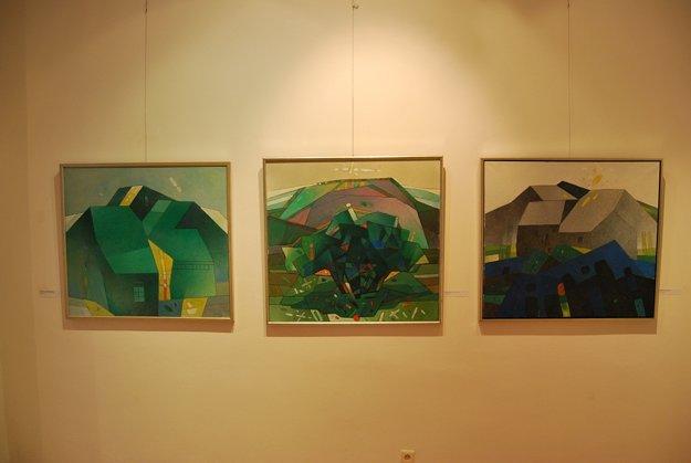 Výstava predstavuje rozsiahlu tvorbu jubilanta Rudolfa Moška.