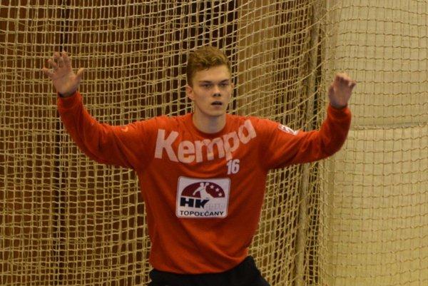 Patrik Králik bol oporou topoľčianskeho mužstva v sobotnom zápase.