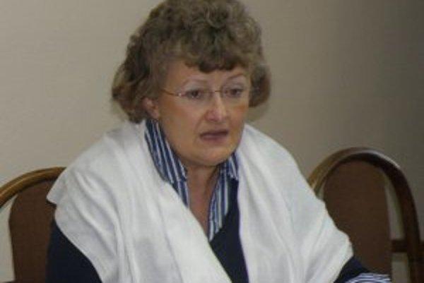 Dnes už bývalá viceprimátorka Prievidze Helena Dadíková.