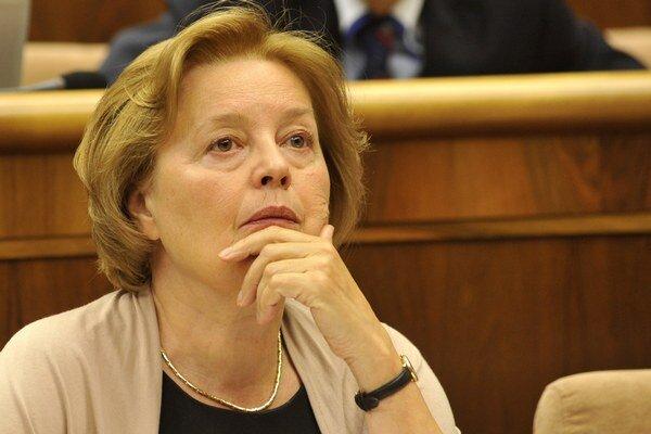 Nezaradená poslankyňa Národnej rady SR Magda Vášaryová.