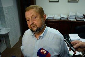 Odvolaný predseda Trestnoprávneho kolégia Štefan Harabin počas brífingu po rozhodnutí kolégia.