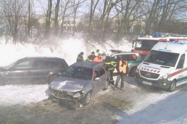 Nehoda pri obci Šterusy z 8. februára.