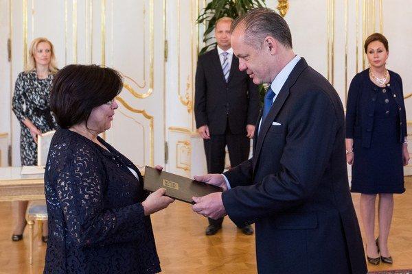 Sudkyňu Baricovú ako jedinú vymenoval Andrej Kiska v júli.
