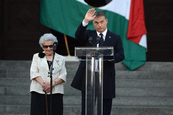 Tamásová s maďarským premiérom Viktorom Orbánom.