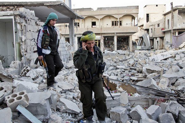 Zničené domy, zničené ulice.