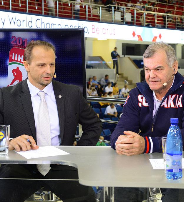 Ján Pardavý (vľavo) sa angažoval aj v televízii ako spolukomentátor.