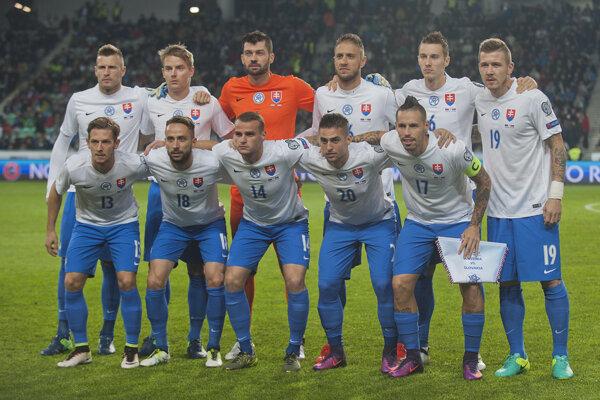 Futbalová reprezentácia Slovenska pred zápasom v Slovinsku.