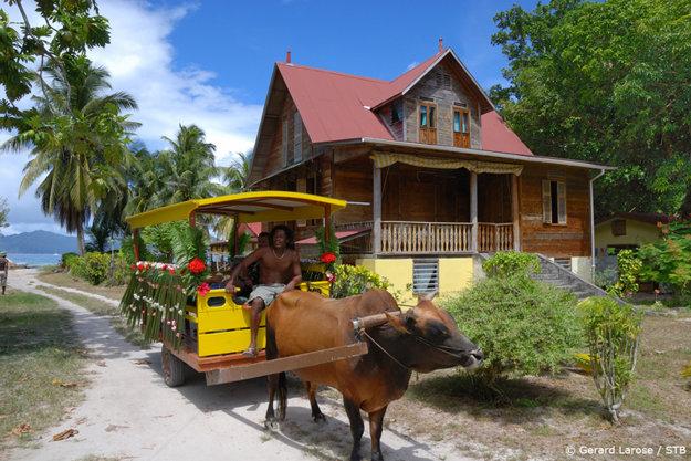 Tradičný dom na Seychelách.
