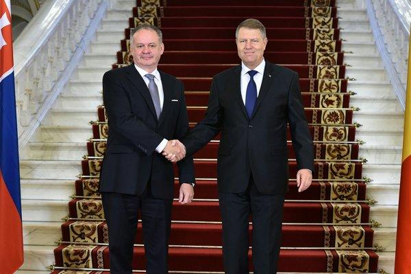 Andrej Kiska a rumunský prezident Klaus Iohannis.