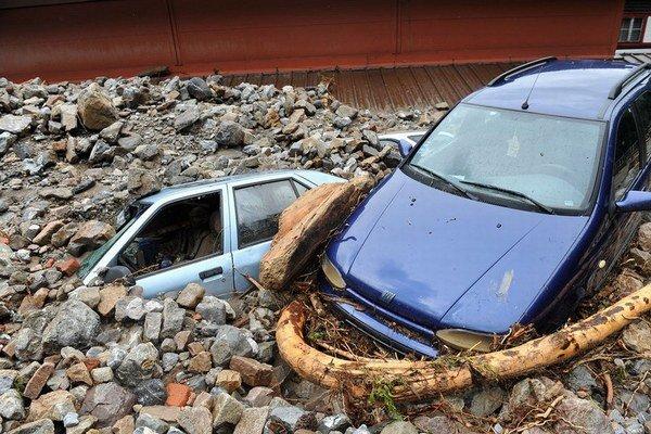Škody v Terchovej.
