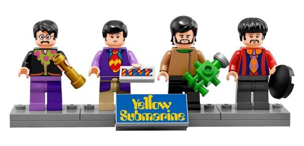 Štvorica Beatles v Lego verzii.