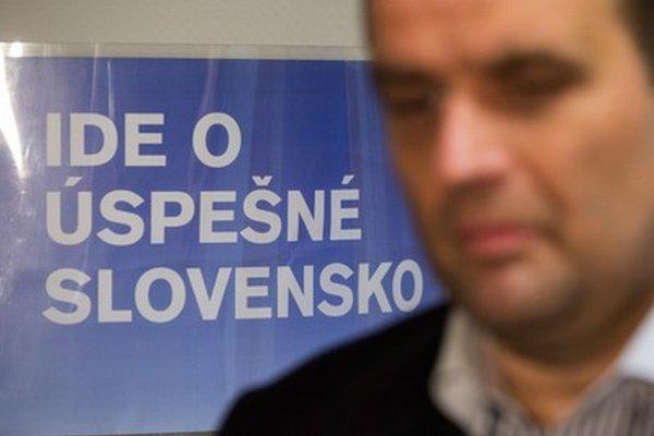 Pavol Frešo na brífingu po rokovaní Prezídia SDKÚ-DS.