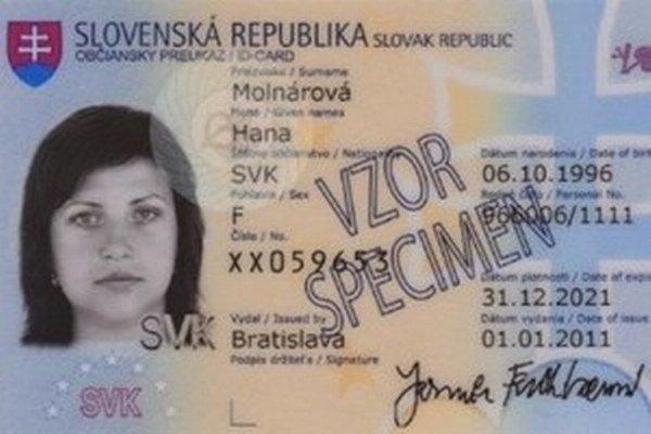 Nový občiansky preukaz.